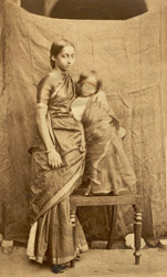 South Indian woman and child, Madras.